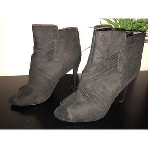Cute Wrapped Black Open Toe Ankle Booties 8.5